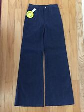 1970s Turtle Bax Vintage Denim Jeans Flare Leg SZ 9-10 Bell Bottom NOS WITH TAG