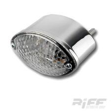LED Rücklicht universal Cateye chrom klar mit Kennzeichenbeleuchtung Motorrad