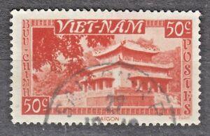 WIETNAM VIETNAM Fr. 1951 used SC#04 50c stamp, Temple, Saigon.