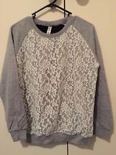 grey white black laced jumper panelling, small