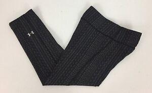 Under Armour Heat Gear Womens XS Compression Pants Capri 3/4 Unique Pattern EUC
