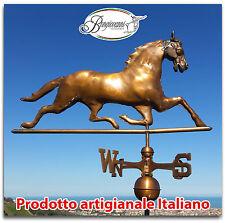 Segnavento in rame cavallo segna vento banderuola con punti cardinali