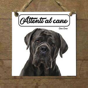 Cane corso MOD 3 Attenti al cane Targa piastrella cartello ceramic tiles