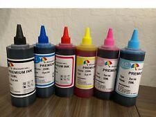 6x8oz Refill ink for Epson 77 78 RX595 R380 RX680 R280 Artisan 50 CISS 6x250ml