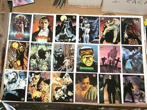 1994 Universal Monsters Illustrated BASE 100 Card SET! Mike Mignola Kelly Jones!