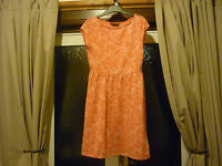 LADIES PEACH/PINK DRESS FROM DOROTHY PERKINS- SIZE 12