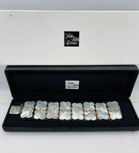 Barry Brinker 950 Sterling Silver Mother Of Pearl Large Statement Bracelet