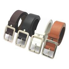 Piel Hombre Vestido Cinturón Informal Hebilla Correa Para La Cintura Cinturilla