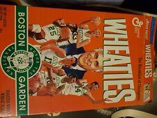 Boston Celtics--Boston Garden--1995 Wheaties Cereal Box--Auerbach/Bird/Havilcek