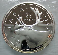 1999 CANADA 25 CENTS PROOF SILVER QUARTER HEAVY CAMEO COIN