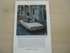 1964 Thunderbird Print Magazine Ad for Framing