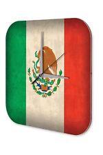 Horloge murale Décoration Aventurier  drapeau du Mexique Acrylglas