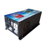 Convertidor corriente 5000w Inversor onda pura DC 12V to AC 230V+LCD+Cargador