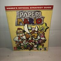 VGC PAPER MARIO Nintendo 64 N64 - Prima Official Strategy Guide RPG Walkthrough
