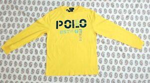 NWT~ Polo Ralph Lauren Boy's Cotton Long Sleeve T Shirt Sz L ( 14 - 16 ) ~YELLOW