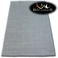 AMAZING SOFT & THICK RUG SHAGGY MICRO Polyester Silver grey HIGH QUALITY carpets