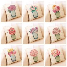 Flower Throw Pillow Cover Floral Case Sofa Couch Cushion Car Waist Home Decor