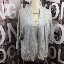 Ann Taylor Loft women's gray linen shrug size L