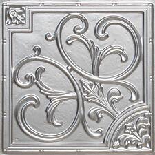 # 204 - Silver 2'x2' PVC Faux Tin Decorative Ceiling Tile Panels Glue Up/Grid