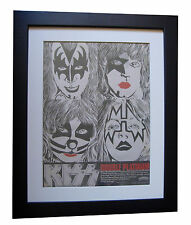 KISS+Double Platinum+POSTER+AD+RARE+ORIG 1978+QUALITY FRAMED+EXPRESS GLOBAL SHIP