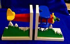 """1994 SASSAFRAS ENTERPRISES - AIRPLANE BOOKENDS 3649 Toys 5.5"""" x 3.75"""" x 5.5"""""""
