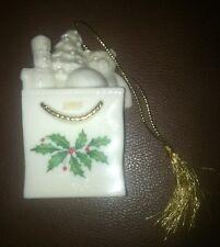 Lenox Christmas Ornament - Christmas Present Bag 1995