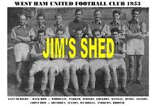 WEST HAM UNITED F.C.TEAM PRINT 1953 ( ALLISON / O'FARRELL / SEXTON )