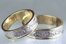 14k Gold Celtic Irish Handcrafted Claddagh Wedding Ring Set all sizes 4 to 13