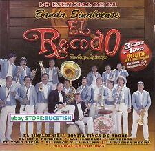 Banda Sinaloense El Recodo de Cruz Lizarraga Lo Esencial 3CD+1DVD New Nuevo