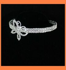 BUTTERFLY CLEAR AUSTRIAN RHINESTONE CHOKER NECKLACE PARTY WEDDING PROM 0177S