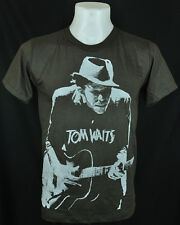 Dark Grey T-Shirt TOM WAITS Retro Indy Punk Rock 100% cotton Size L