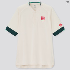 UNIQLO 2021 Roger Federer Qatar Open Dry-EX Polo Shirt (Off White) USA