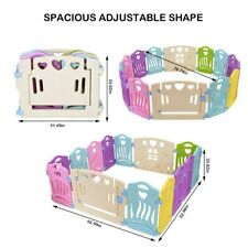 Baby Playpen Kids Activity Centre Safety Play Yard Home Indoor Outdoor 14 Panel
