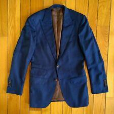 SUITSUPPLY Mens Extra Slim Fit Peak Lapel Wool Suit Jacket Blazer Sport Coat 38L