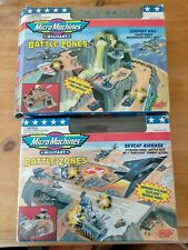 Micro Machines Military Battle Zones Playset Lot Skycat Airbase And Hornet Hill