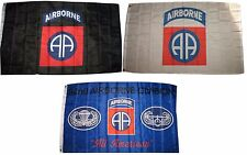 3x5 3'x5' Wholesale Lot Set 82nd Airborne Black & White & Blue 3 Flags Flag