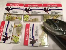 LOT OF 20 Eagle Claw ECJSD18-CGL Shad Dart CHARTRUSE  HEAD / YELLOW FEATHER
