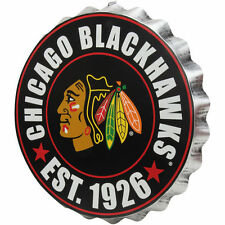 Chicago Blackhawks Bottle Cap Sign - Est 1926 - Room Bar Decor NEW 13.5""