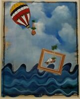 Navarrete 22X18 Mixed Media Cuban Art Original Painting