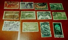 Mexico Airmail Stamp Lot Collection Of 12 Used Air Mail Stamps