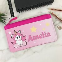 Personalised New Unicorn Fabric Pencil Case, Back to School Stationery for kids