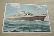 ANDREA DORIA  TURBONAVE  ITALIA NAVIGAZIONE GENOVA Steamship Ship Postcard