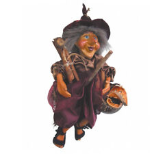 Witches of Pendle - Demdike Witch Flying (Burgundy) 32cm (WOPDEMD32BURG)