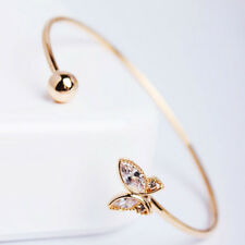 Girls Lady Birthday Gift Jewelry Butterfly Bangle Cuff Bangle Opening Bracelet