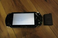 Sony PSP 1000 Console Piano Black w/battery pack Japan m544