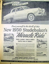 1949 newspaper with illustrated ad for the 1950 STUDEBAKER COMMANDER AUTOMOBILE