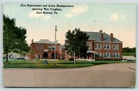Fort Monroe Virginia~Fire Department & Army Headquarters~Cannon Balls~c1910