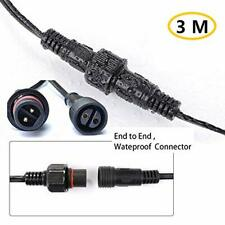 3M/9.8Ft Waterproof Extension Cable for G40 Clear Outdoor Garden Globe...