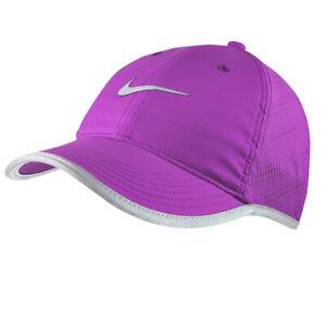 NEW! NIKE Women's Dri-Fit STAY COOL Reflective Running Hat/Cap-Purple 810138-556