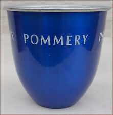 Vintage French Aluminum & Blue Champagne Ice Bucket Cooler Pommery